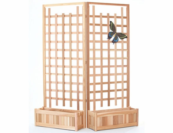 Planter Set with Trellis Screen Kit