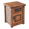 Raven Rough Sawn Enclosed Nightstand