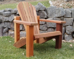 Red Cedar Adirondack Chairs & Wood Adirondack Chairs Ottomans Kits and Sets