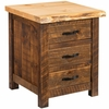 Richmond Rough Sawn 3 Drawer Nightstand