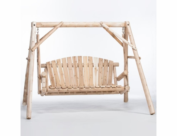 Rustic Log Cedar Timberland 5' Swing Set