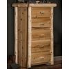 Rustic Log Style Chest of Drawers - 5 Drawers