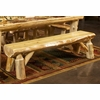 Rustic Log Style Half Round Log Bench