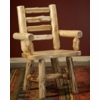 Rustic Log Style Ladderback Dining Arm Chair