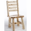 Rustic Log Style Ladderback Dining Side Chair