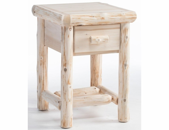 Rustic Log Style Night Stand
