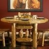 Rustic Log Style Octagonal Picket Dining Table