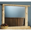 Rustic Log Style Over Dresser Mirror