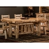 Rustic Log Style Rectangular Picket Dining Table