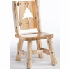 Rustic Log Style Silhouette Back Dining Side Chair