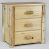 Rustic Pine & Log 3 Drawer Chest