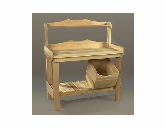 Simple Cedar Potting Bench - Not Currently Available
