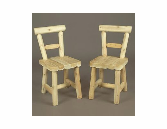 Solid Seat Cedar Log Style Dining Chair - Set of 2 (indoor use only) - Not Currently Available
