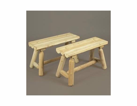 Square Cedar Log Style Table Group - Not Currently Available