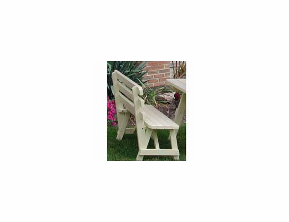 Traditional Backed Bench 2', 3', 4', 5', 6', or 8'<br>(Available in Cedar or Pine)
