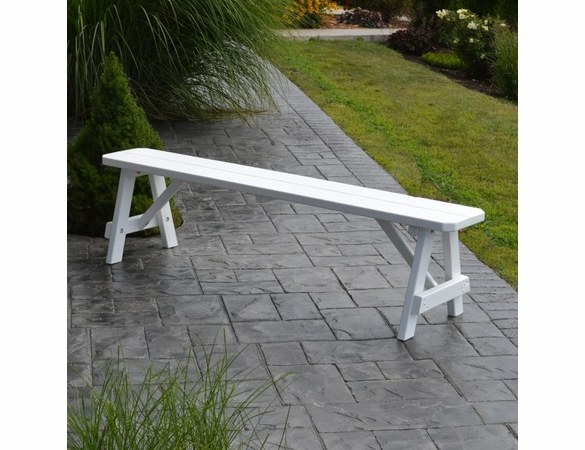 Traditional Backless Bench - 2', 3', 4', 5', 6' & 8' Options