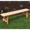 Traditional Cedar Backless Bench - 2', 3', 4', 5', 6' & 8' Options