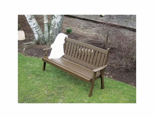 Traditional English Garden Bench 4', 5' or 6'<br>(Available in Cedar or Pine)