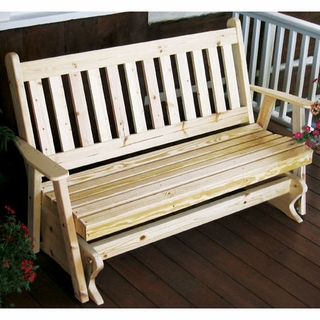 Swell Cedar Wood Outdoor Glider Chairs Benches And Sets Machost Co Dining Chair Design Ideas Machostcouk