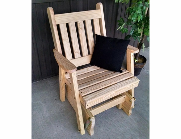 Traditional English Glider Chair<br>(Available in Cedar or Pine)
