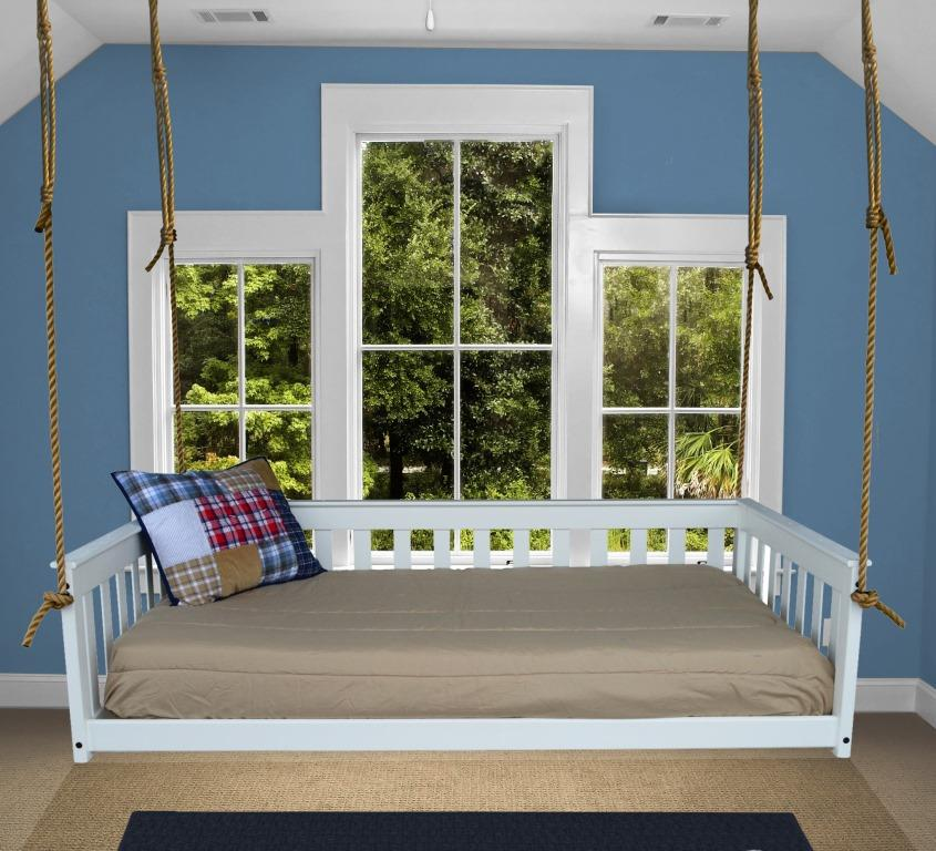 Pine Wood Mission Hanging Twin Bed Frame