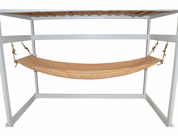 Twin Mission Loft Bed Frame with Hammock