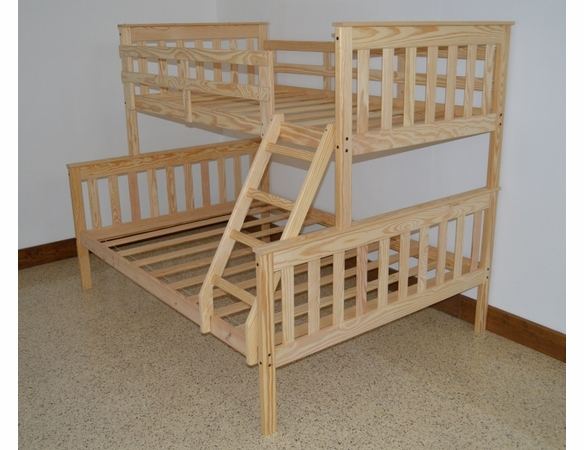 Twin Over Full Size Mission Bunk Bed Frame