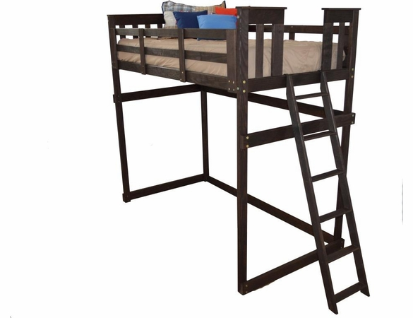 Twin Size Mission Loft Bed Frame