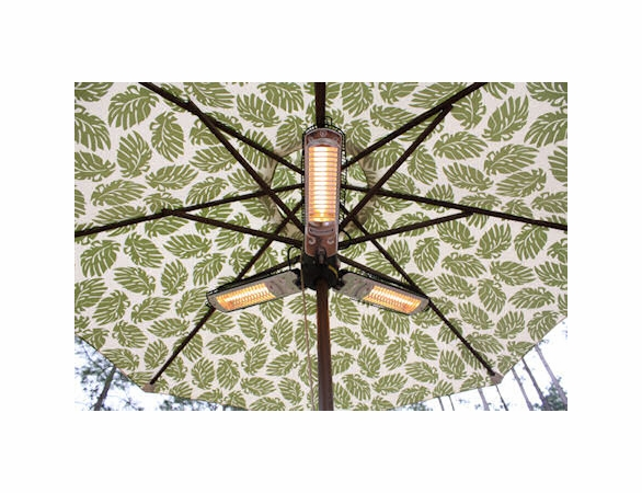 Umbrella Infrared Patio Heater with 3 Heating Heads