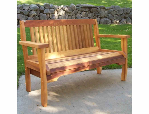 Villa Cedar Garden Bench: 4ft. - 5ft.