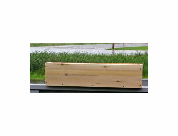 White Cedar Simple Window Planter Box: 3 Sizes Available