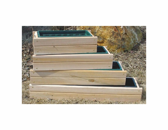 Window Planter Box + Liner: 4 Sizes Available