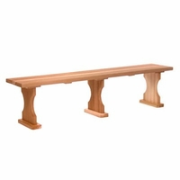 Wooden 6 Ft Backless Bench Kit