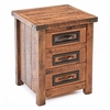 Woodman Rough Sawn 3 Drawer Nightstand