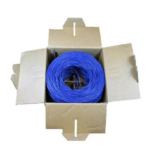 1000ft blue cat5e bulk ethernet cable roll with pull box 41 ld 1000 foot blue ethernet cable cat5e sale $39 98