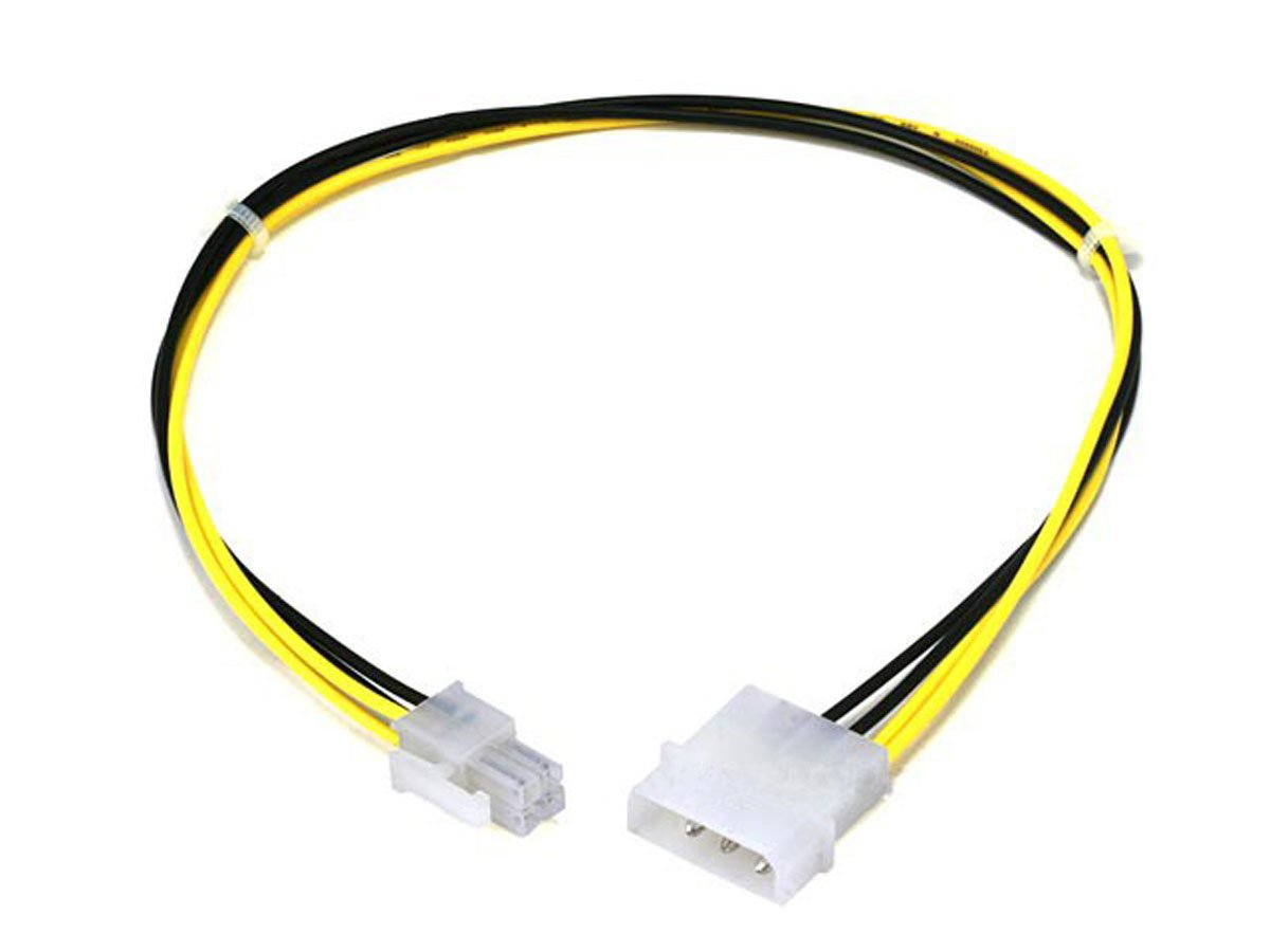 Monoprice 12 Quot 4 Pin Molex To 4 Pin P4 Power Adapter