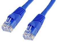 BattleBorn 1 foot RJ45 Cat5e Ethernet Patch Network Cable - BLUE