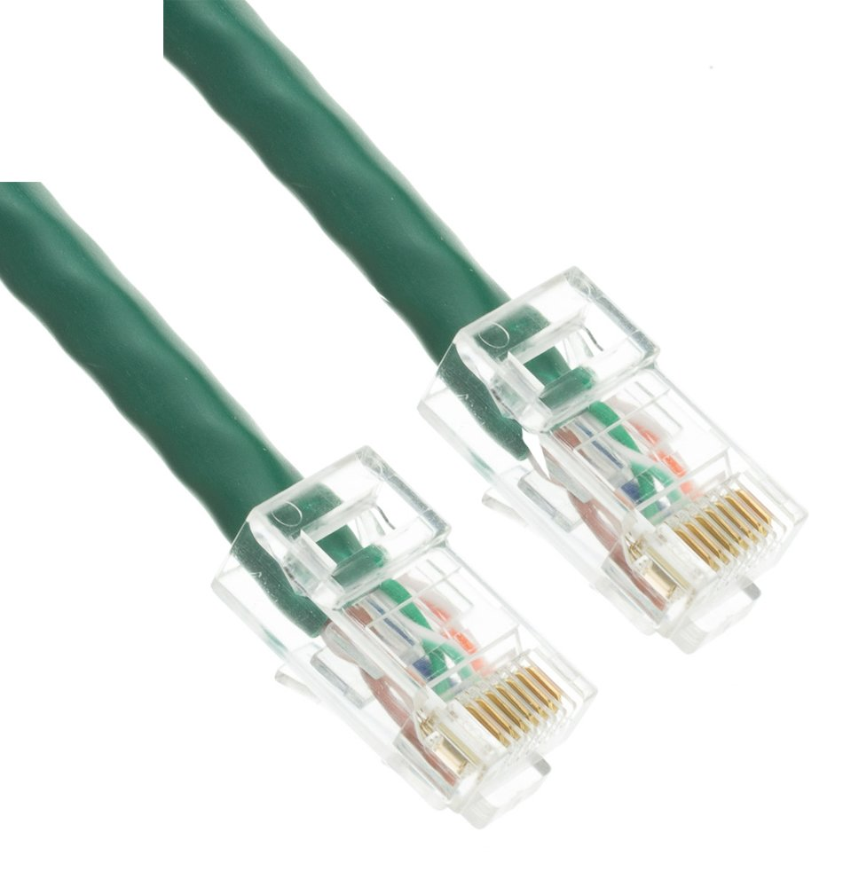 5 Pack LOGICO 25Ft Cat5e Ethernet RJ45 LAN Wire Network Black UTP 25 Feet Patch Cable