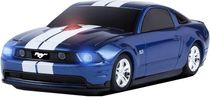 3-Button Road Mice Ford Mustang GT 2.4GHz Wireless Optical Scroll Mouse w/Nano USB Receiver (Blue/White)