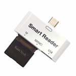 3 in 1 USB 3.1 Type C to USB Smart Card Reader