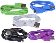 BattleBorn 3 foot USB micro Charge/Sync Cable (Five Pack of Colors)