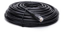 BattleBorn 50 Foot Black Cat6a UTP RJ45 Ethernet Network Cable