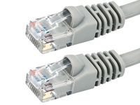 5ft Cat6 UTP Crossover Cable Gray