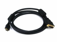 Monoprice 2402 DVI to HDMI Cable 6 Foot Male-Male
