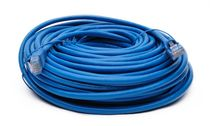 BattleBorn 75 Foot Cat6a UTP RJ45 Ethernet Network Cable (BLUE)
