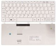 Acer White Replacement Laptop Keyboard for Aspire One 532/AO532/AOD532