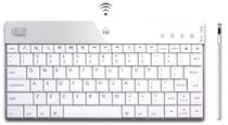 Adesso WKB-1000BW Mini Bluetooth Wireless Computer Keyboard (White)