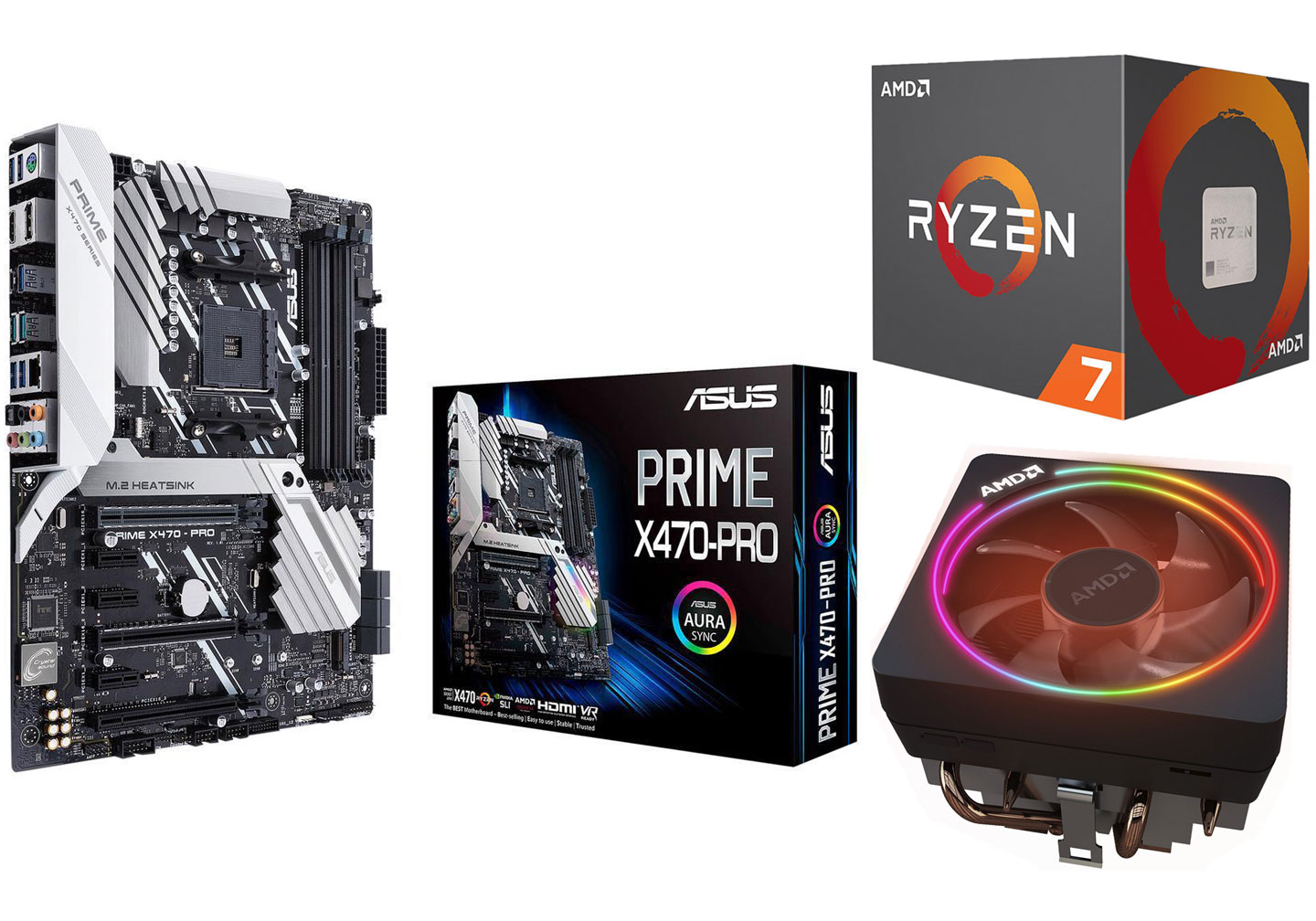 AMD Ryzen 7 2700 X Asus Prime X470-Pro Motherboard and CPU Combo
