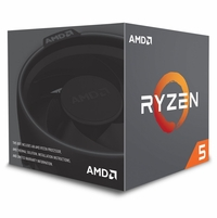 AMD RYZEN 5 2600 6-Core 3.4 GHz (3.9 GHz Max Boost) Socket AM4 65W YD2600BBAFBOX Desktop Processor
