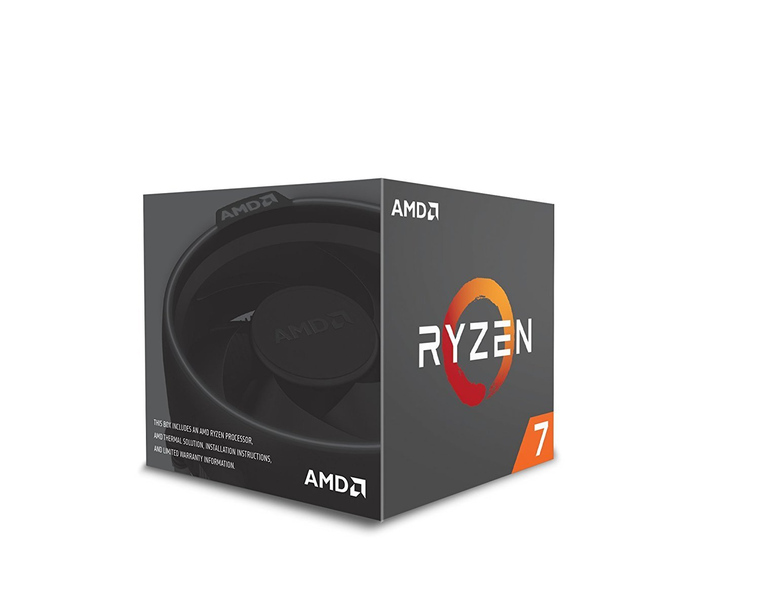 AMD RYZEN 7 1700 8-Core 3 0 GHz (3 7 GHz Turbo Socket AM4 65W YD1700BBAEBOX  Desktop Processor